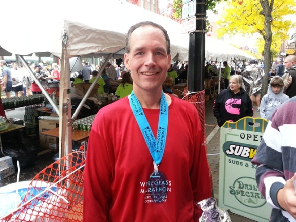 Recovering after the 2012 Wineglass Marathon