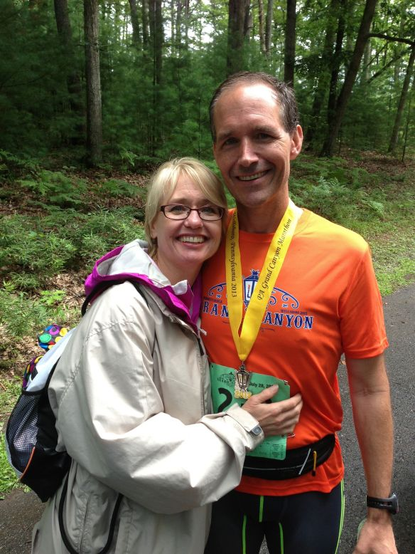 You know it is love when someone will touch you after 26.2 miles in July!