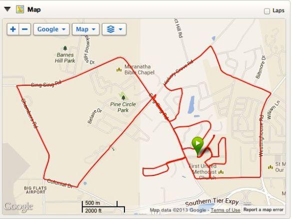 Run Route 10-19-13
