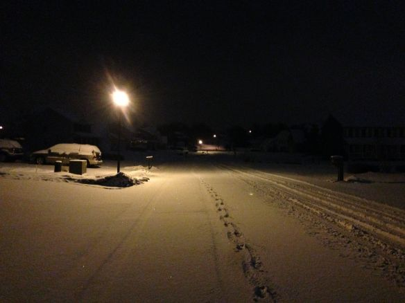 Snowy January Run 1