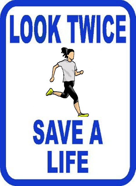 Look Twice Save a Life - Runner